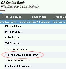 Neexistující ústav v seznamu bank